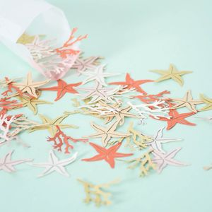 Coral And Starfish Confetti