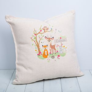Childrens Woodland Animals Personalised Cushions