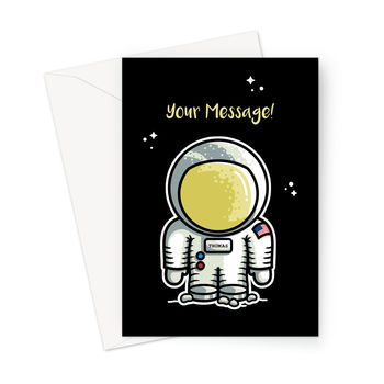 Personalised Space Astronaut A5 Greeting Card