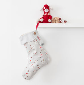 Personalised Christmas Stocking Snowman Print