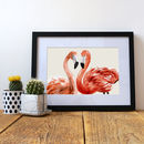 'Strike A Pose' Flamingo Illustrative Art Print