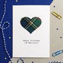'Happy Birthday Ya Walloper' Scottish Tartan Card