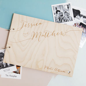 Personalised Calligraphy Wedding Album - by recipient