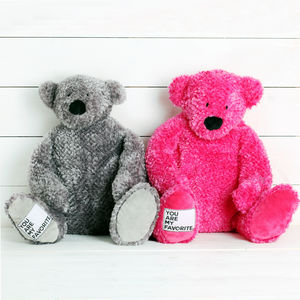 Large Plush 'You Are My Favourite' Bear - soft toys & dolls