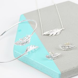 Feather Jewellery Set