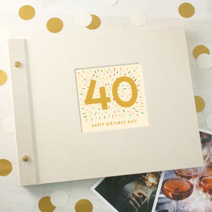 Personalised 40th Birthday Photo Album