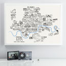 Illustrated Musical Map Of London
