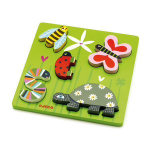 Garden Wildlife Animals Wooden Jigsaw Puzzle