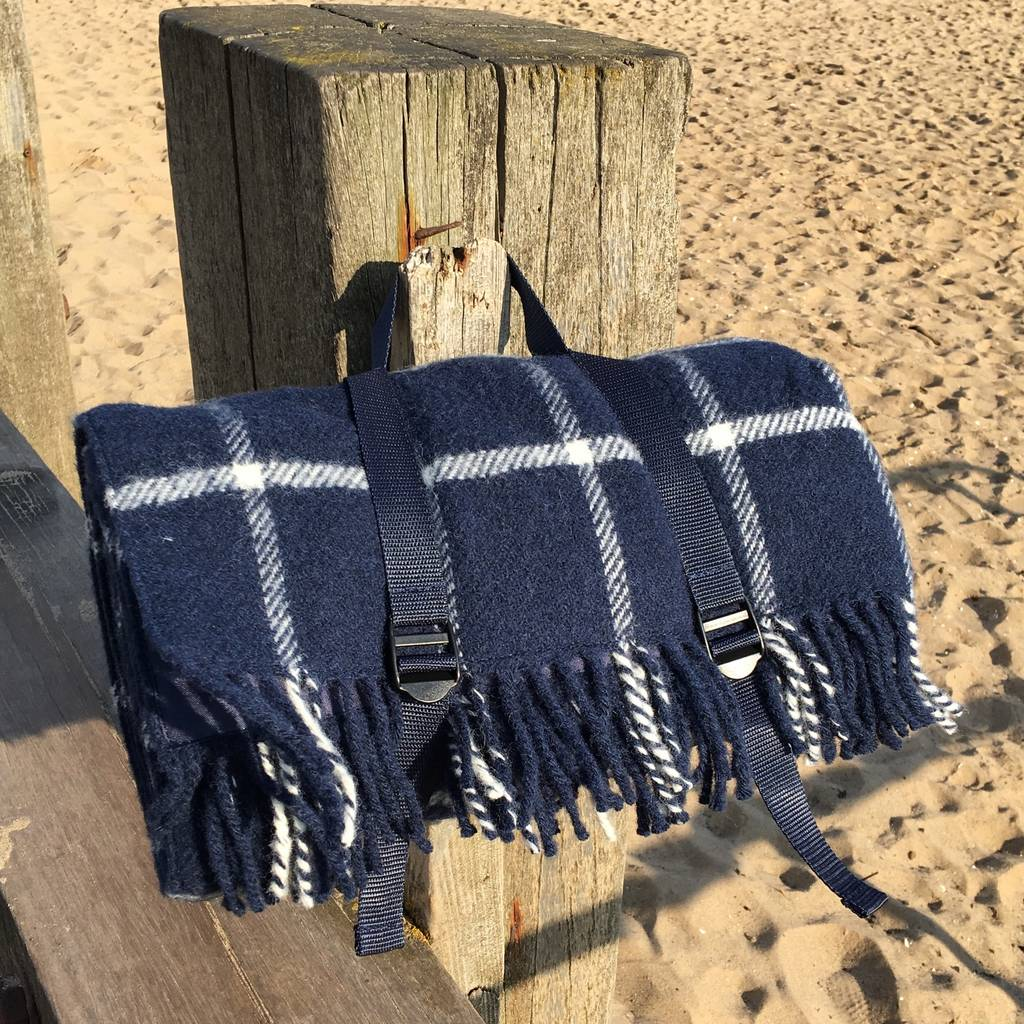 Wool Picnic Rug With Waterproof Backing