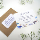 Bohemian Feathers RSVP with Return Address Sticker