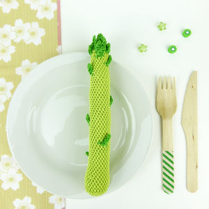 Asparagus Soft Toy Handmade In Crochet - soft toys & dolls