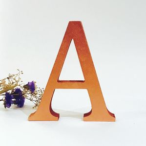 Copper Wooden Freestanding Letter - decorative accessories