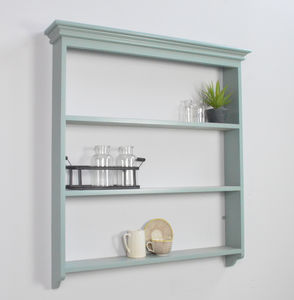 Painted Open Wall Shelf - living room