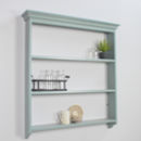Painted Open Kitchen Wall Shelf