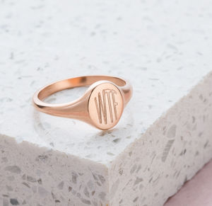 Personalised Initials Signet Ring - gifts for her