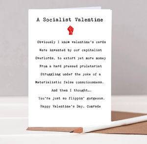 A Socialist Valentines Card