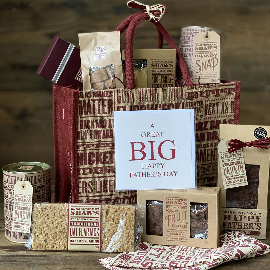 Father's Day Large Gift Bag Of Yorkshire Treats