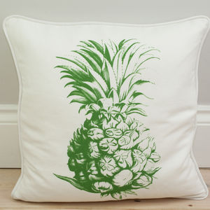 Pineapple Print Motif Cushion - cushions