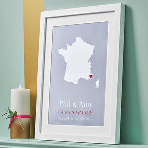 Personalised Treasured Location Print - gifts for couples