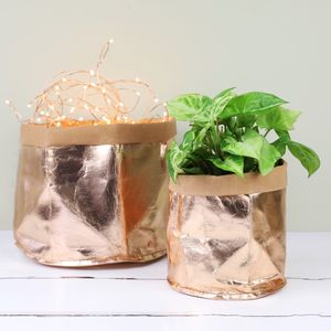 Mini Round Rose Gold Storage Bag - storage