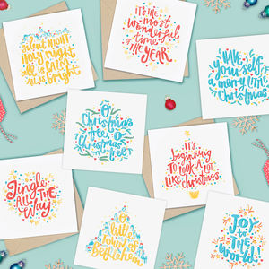 Pack Of Carols Christmas Cards