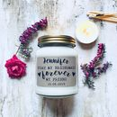 Personalised 'Today My Bridesmaid …' Soy Scented Candle
