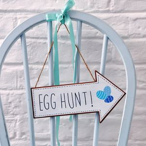 Painted Egg Hunt Sign