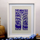 Family Tree Unframed A4 Papercut