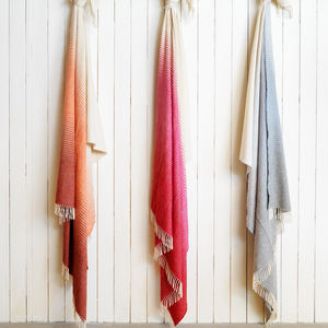 Supersoft Ombre Lambswool Throw - home sale
