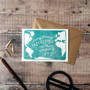 Something Incredible Is Out There Letterpress Card - shop by category