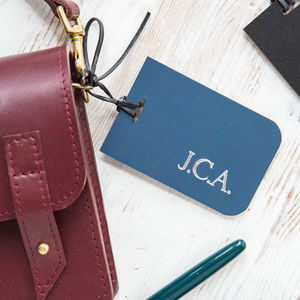 Leather Luggage Tag - stocking fillers for him
