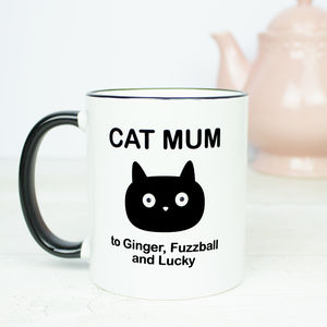 Personalised Cat Mum Mug - dining room