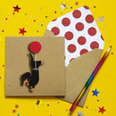 Personalised Dachshund Balloon Birthday Card