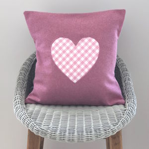Handmade Wool Cushion With Heart - cushions