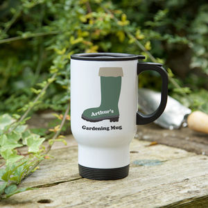 Welly Boot Gardener's Mug With Seeds Gift Option - kitchen