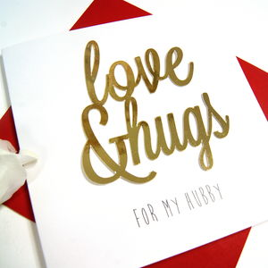 Hubby Love And Hugs - new in
