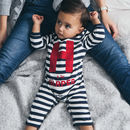 Striped Babygrow And Vest Gift Set