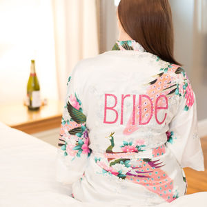 Liberty Personalised Bridal Wedding Robe - alternative-gifts-for-brides
