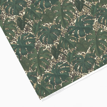Tropical Leaf And Animal Print Wrapping Paper