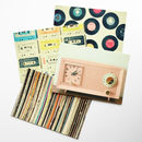 Set Of Four Retro Music Postcards