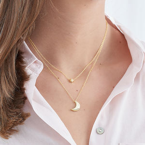 Love You To The Moon And Back Necklace - celestial jewellery
