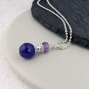 Amethyst And Purple Jade Necklace February Birthstone