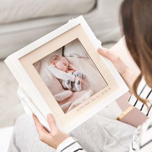 Wooden Personalised Baby Photo Frame - home accessories