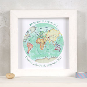 Welcome To The World Print New Baby Print Gift