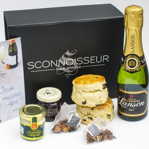 Champagne Cream Tea Giftbox - our favourite hampers