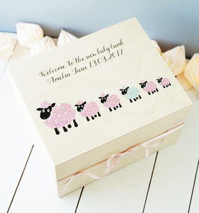 Baby Lamb Child's Wooden Keepsake Box