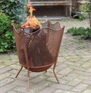 Rust Fire Basket - fire pits & outdoor heating