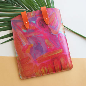 'Solstice Dreams' Printed Leather iPad Case - whats new