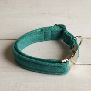 Morag Harris Tweed Dog Collar - dog collars