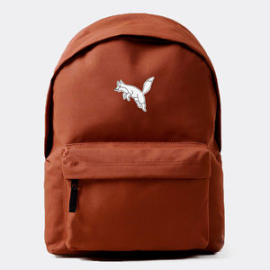 'Fox' Rust Embroidered Backpack - men's accessories